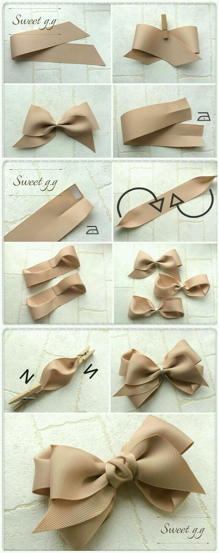 How to make a gorgeous bow for party decoration and gift wrapping. Can also be used for baby headbands and hairclips! How to make a gorgeous bow for party decoration and gift wrapping. Can also be used for baby headbands and hairclips!
