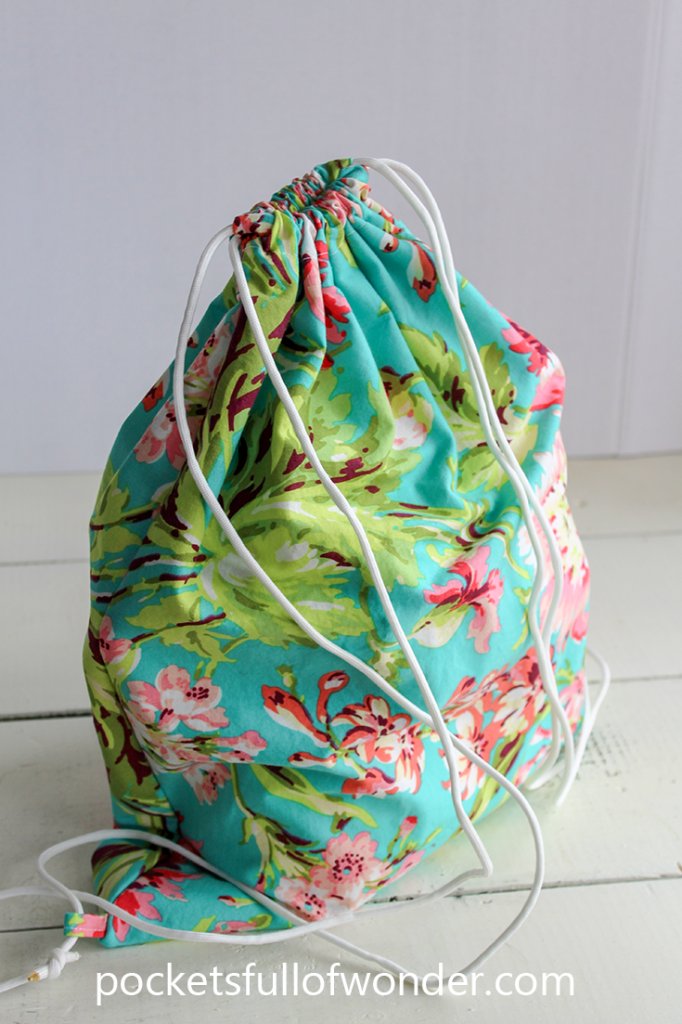 Super Easy Drawstring Backpack Tutorial Complete With