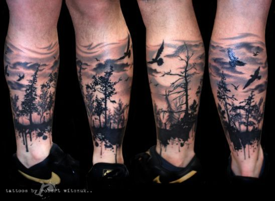 pin arm forest tattoo sleeve on think ink wald tattoo. Black Bedroom Furniture Sets. Home Design Ideas