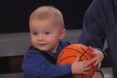 2 yr. old battles Kobe in shooting contest...cute!