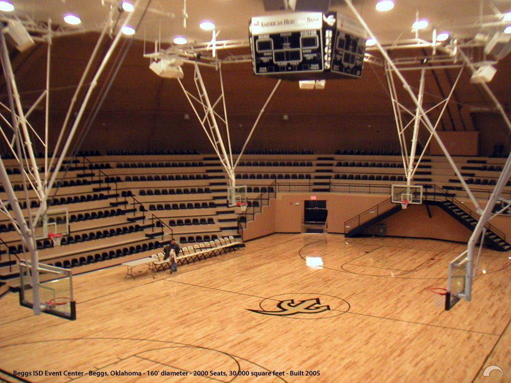 The Interior View Of The Beggs Isd Gymnasium Event Center In Beggs