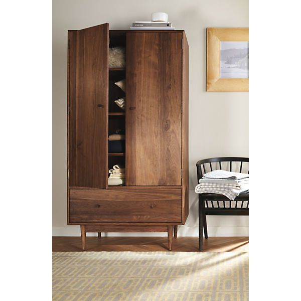 For Hand Crafted Dining Storage Add The Mid Century Inspired Armoire To Your Modern Or Contemporary Room Entryway