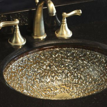 Pebble Glass Undermount Or Drop In Sink 17 X 14 Glass Bathroom