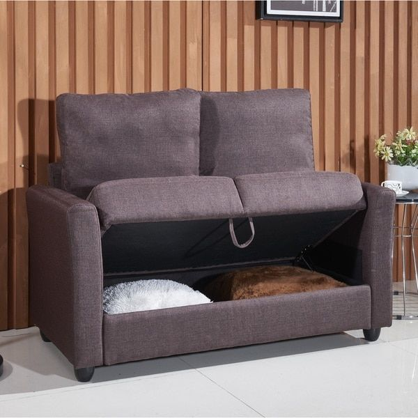 Adia Modern Fabric Loveseat With Storage Ping The Best Deals On Sofas Loveseats