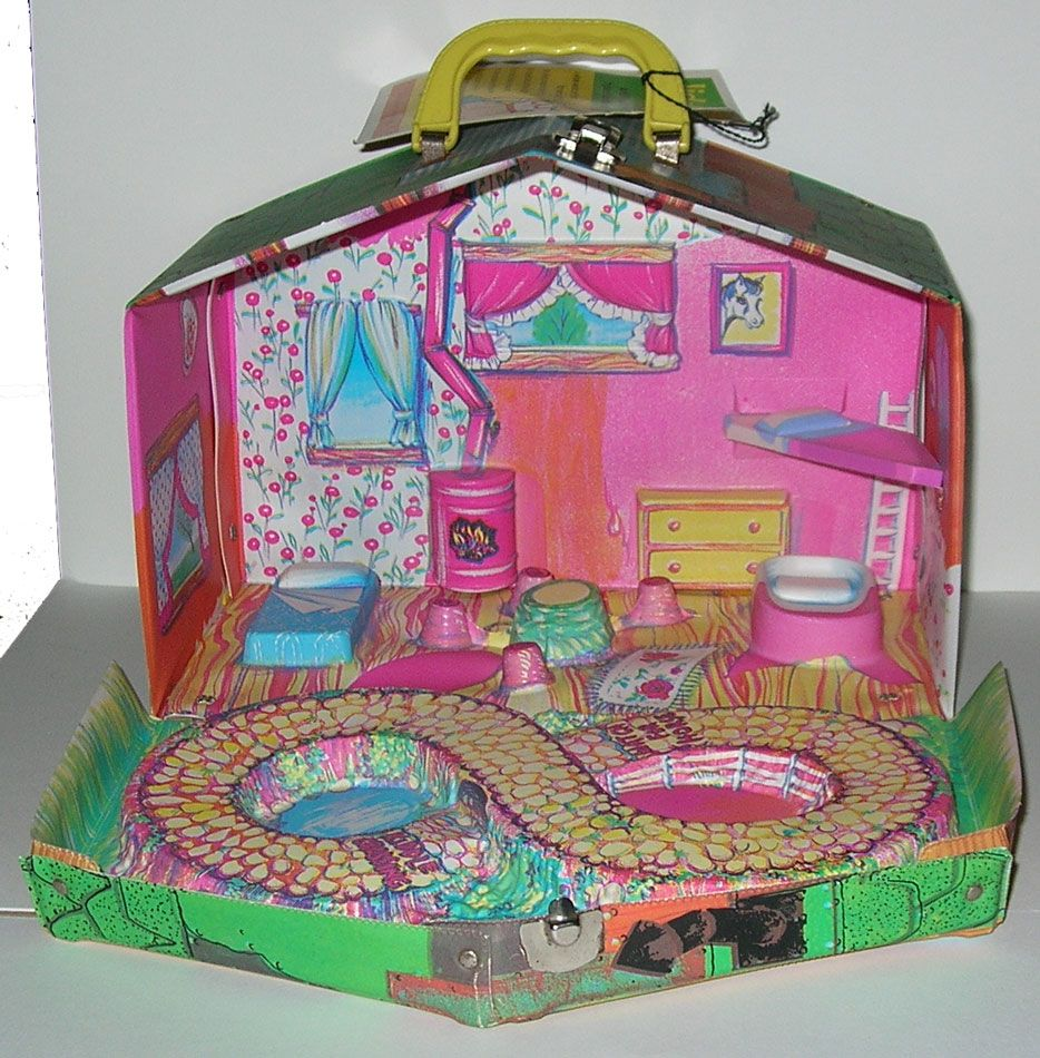 I had this Little Kiddle House (club house). My big sister Kathy took me on the bus downtown and bought it for me!  I was so excited!