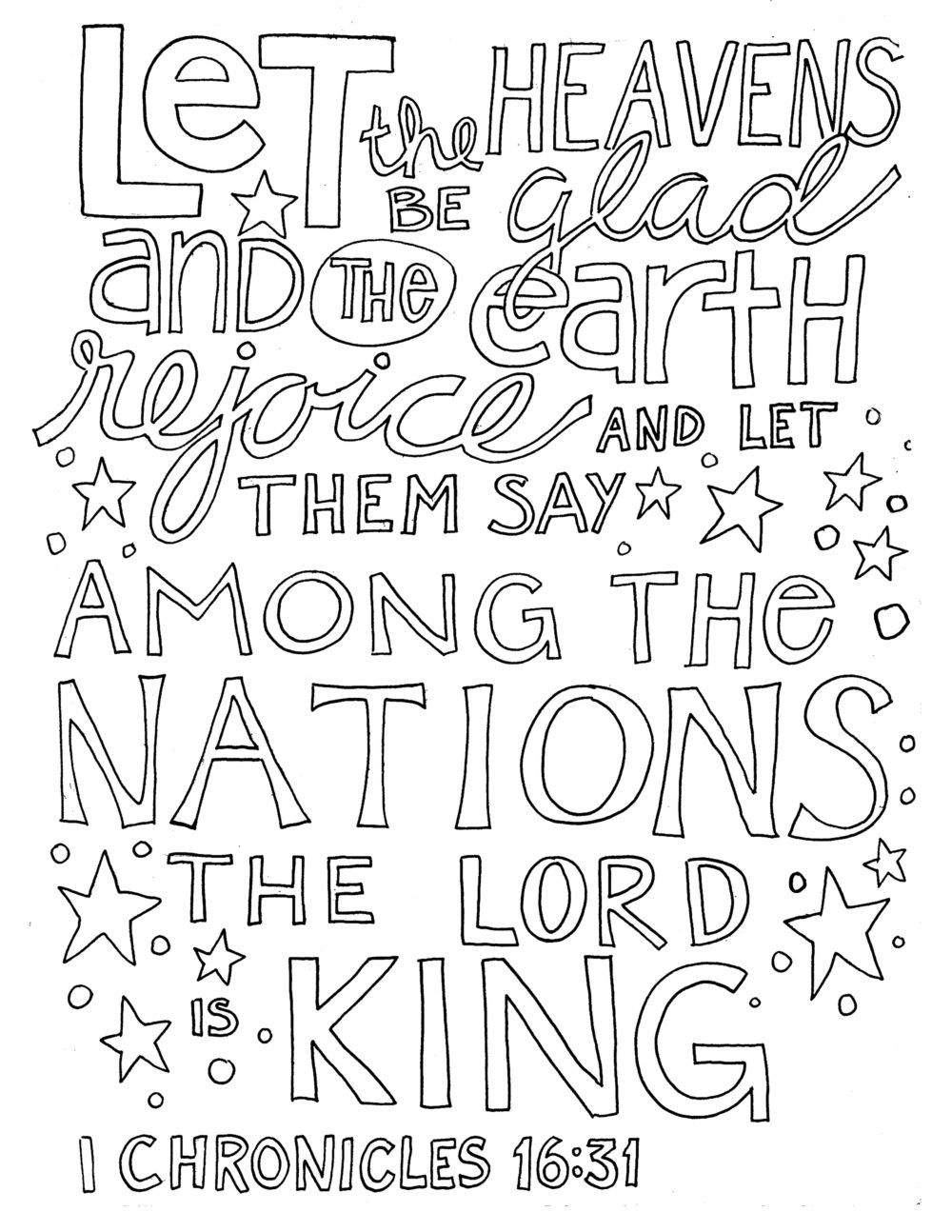 Let The Heavens Be Glad And The Earth Rejoice And Let Them Say