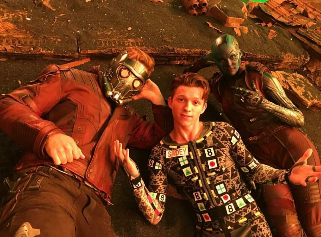 Chris Pratt, Star Lord, Peter Quill, Tom Holland, Spiderman