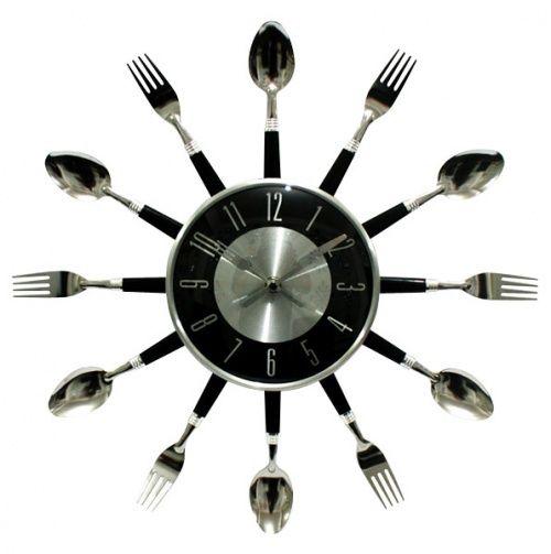 Home Goods Clocks: Kitchen Utensil Wall Clock