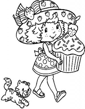 Strawberry Shortcake Coloring Pages printable | 2 Graphics ...