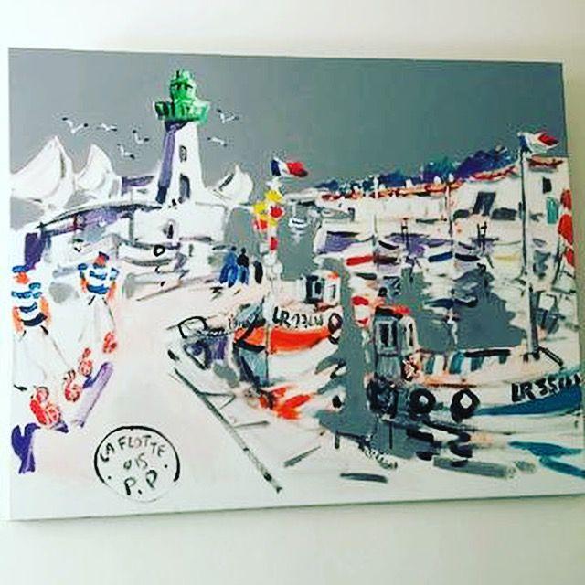 Ce tableau, peint par un artiste réthais nous fait voyager à la Flotte en ré avec ces admirables coups de pinceaux aussi joyeux que la vie réthaise et ses piques-nuques au banc du bûcheron ! ;-) #patrickplattier #laflotteenré #ildere #drouotmontmartre mercredi 6 décembre à 9h. N'oubliez pas que les #ventes sont publiques, venez et achetez des #objets à #histoire... #anticsaregreen #drouot est un #musée où il est permis de #toucher ... #artworks #furnitures #decoration #maisonetobjet