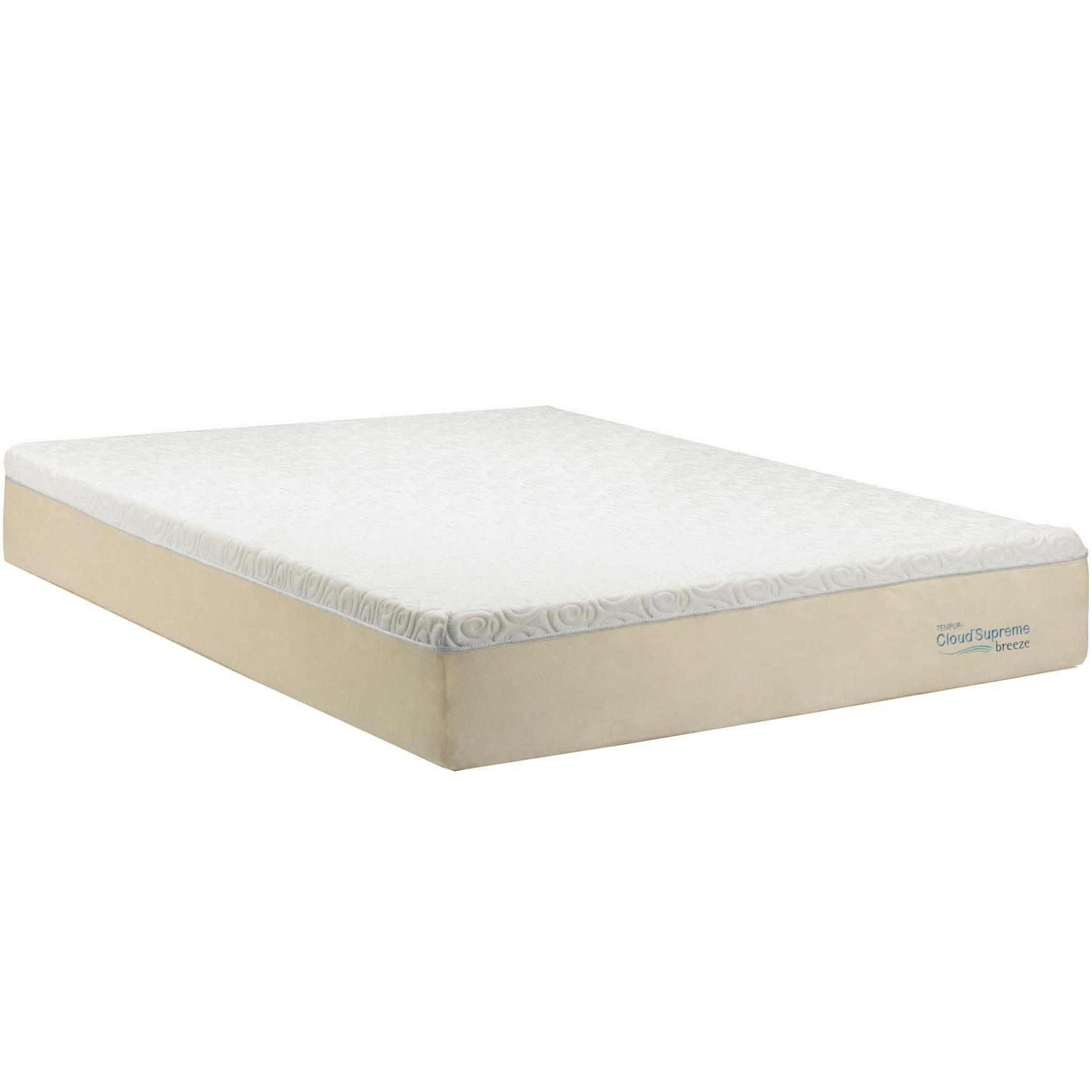 tempur clouda supreme breeze queen soft mattress by tempur pedic