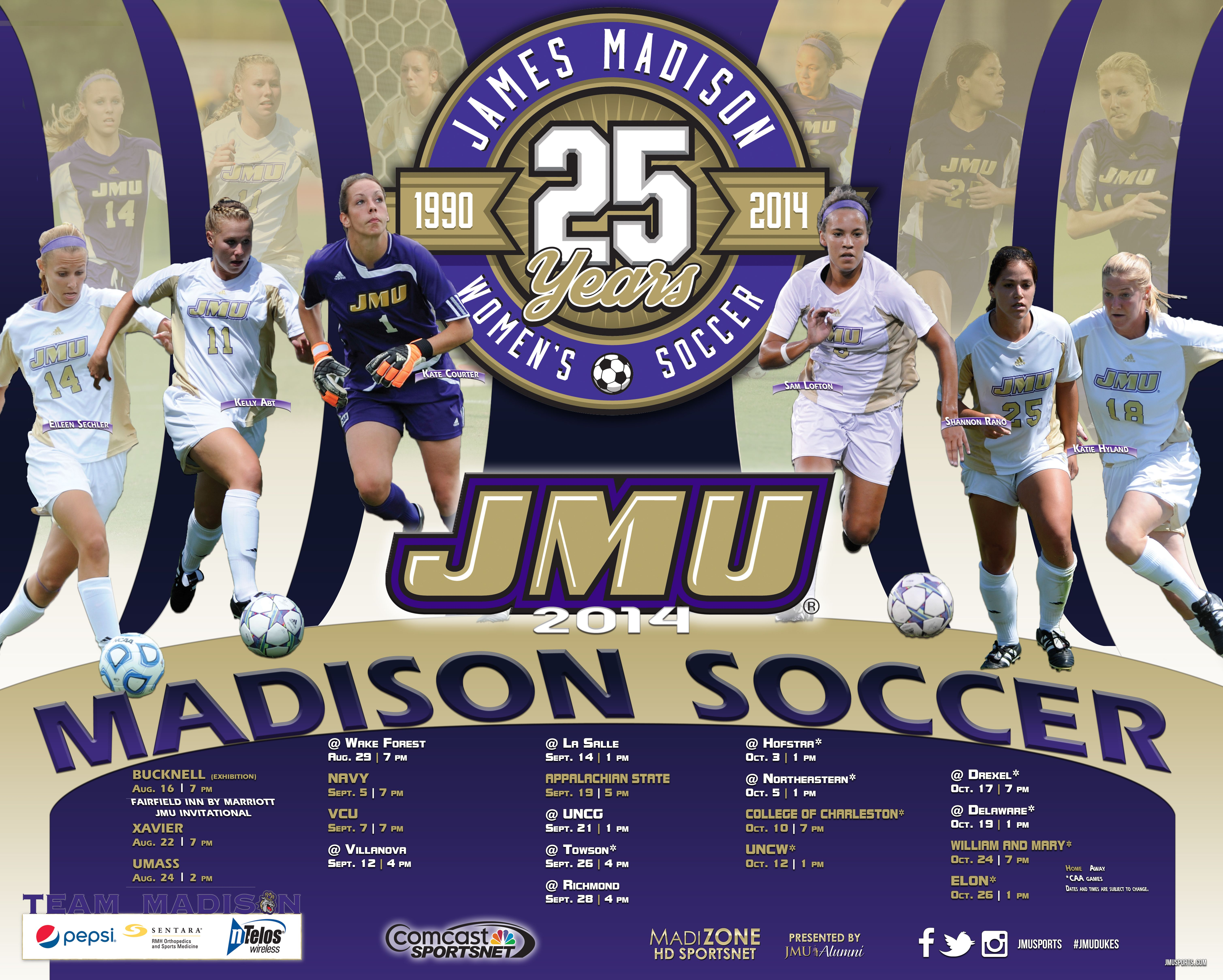 2014 Jmu Women S Soccer Schedule Poster Click To Download The Full Version W Soccer Soccer Schedule Soccer Places To Visit