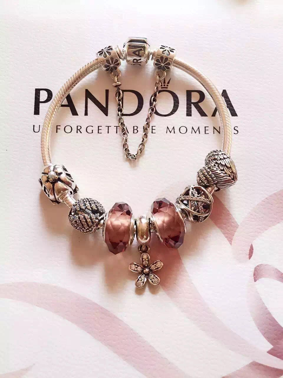 219 pandora charm bracelet pink hot sale