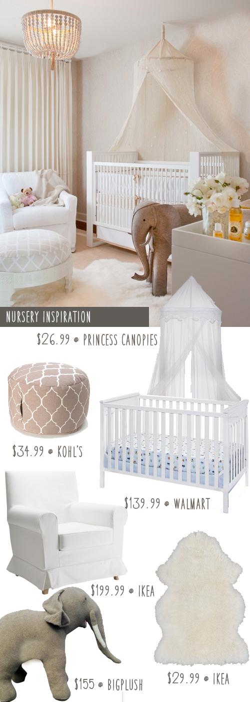 Hollywood Glamour Nursery On A Budget