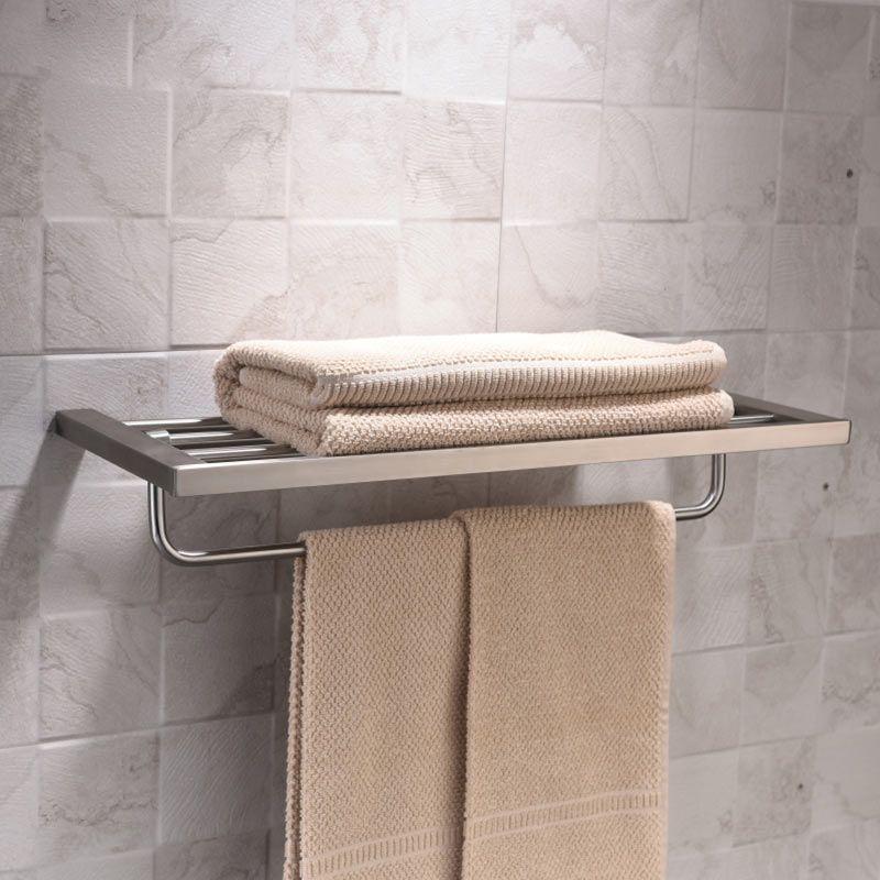Rack porte serviettes inox bross 60 cm quadra steel - Accessoires salle de bain design inox ...
