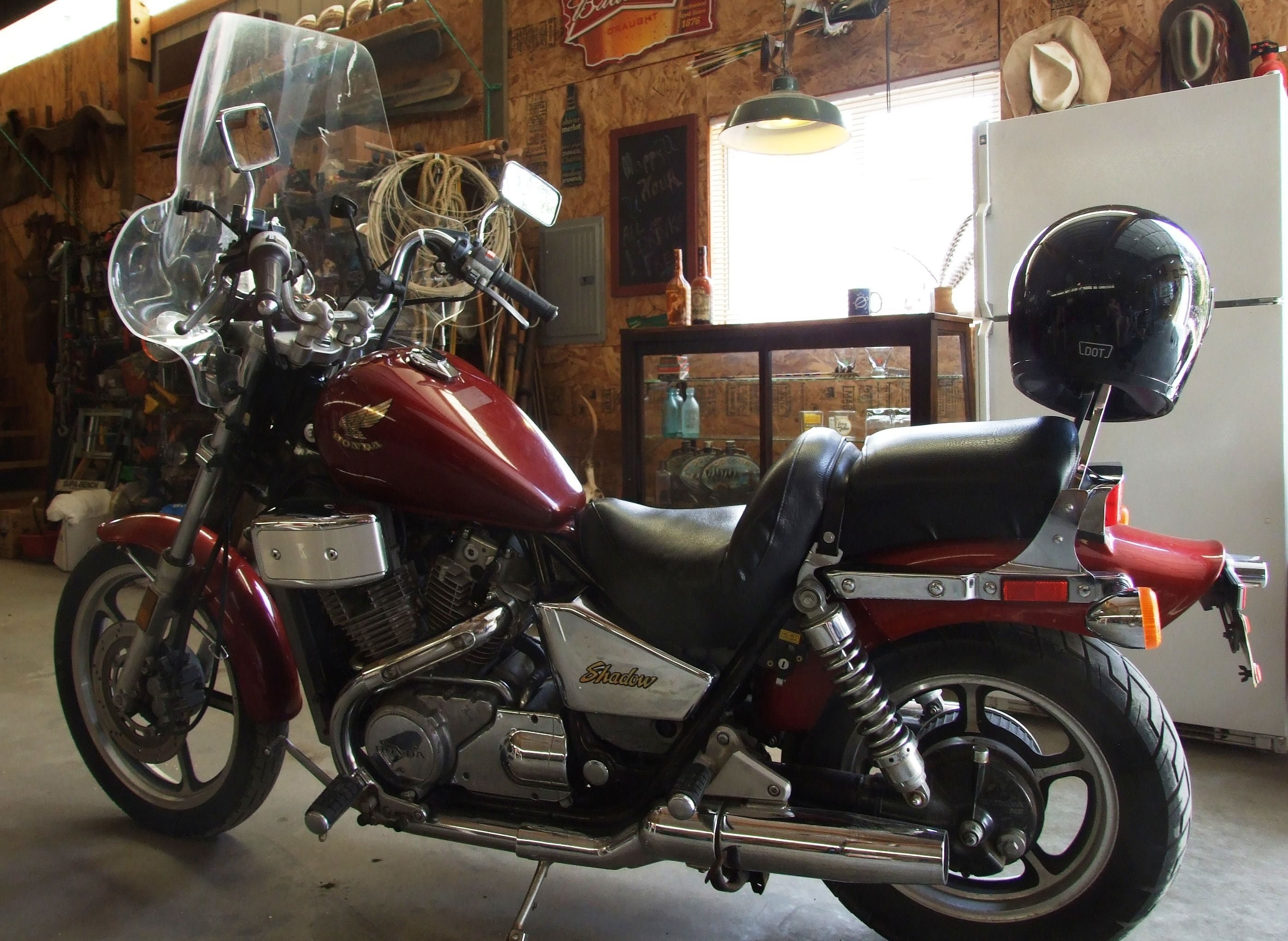 86 Honda Shadow 700  I did not think I could push my Soft