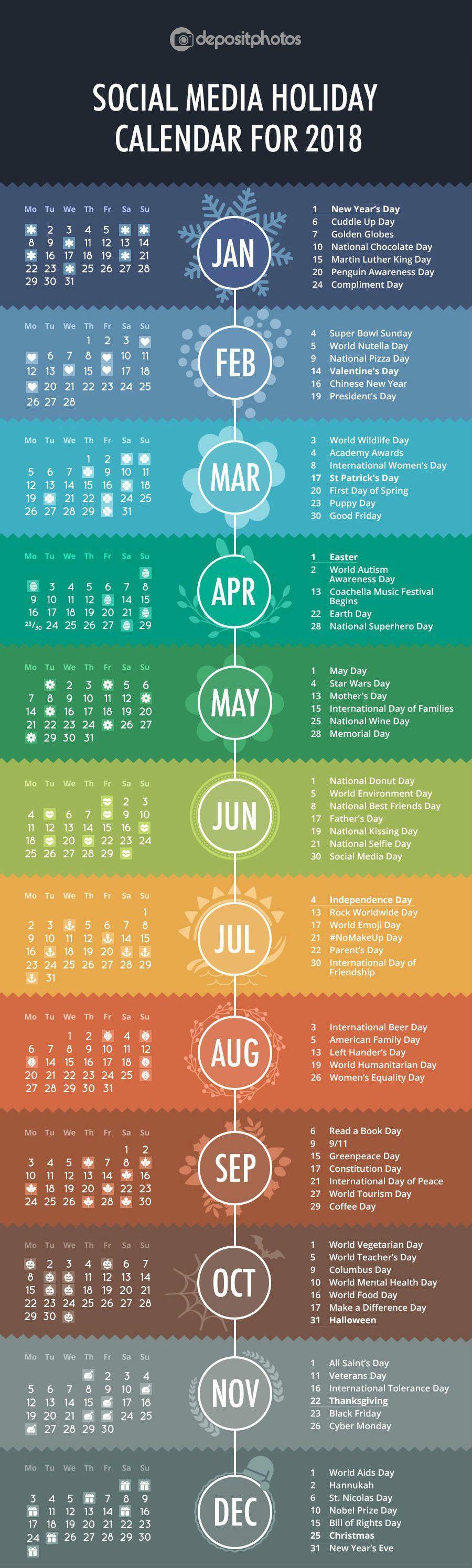 The 2018 Holiday & Event Calendar Every Social Media Marketer Needs [Infographic]   Juan Ornelas Vilches   LinkedIn