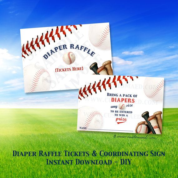 Hey, I found this really awesome Etsy listing at https://www.etsy.com/listing/169724342/baseball-diaper-raffle-tickets-and