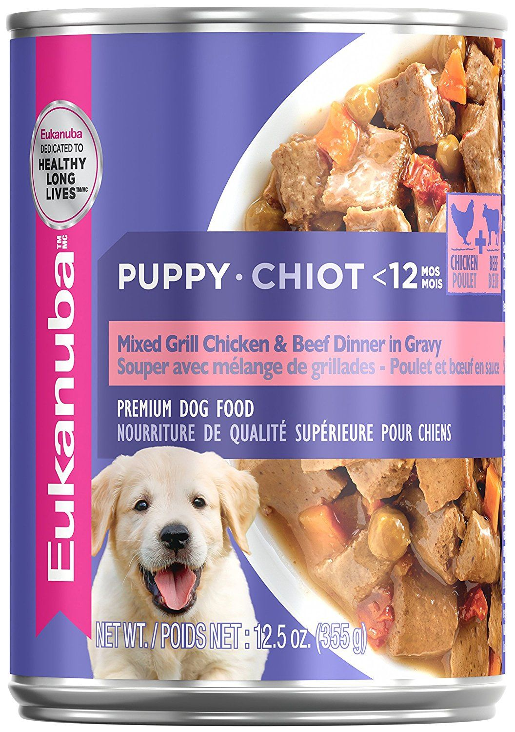 Eukanuba Wet Food Puppy Mixed Grill Chicken And Beef Dinner In Gravy Canned Dog Food Case Of 12 12 5 Oz Click Image To Review More Details Canned Dog Food