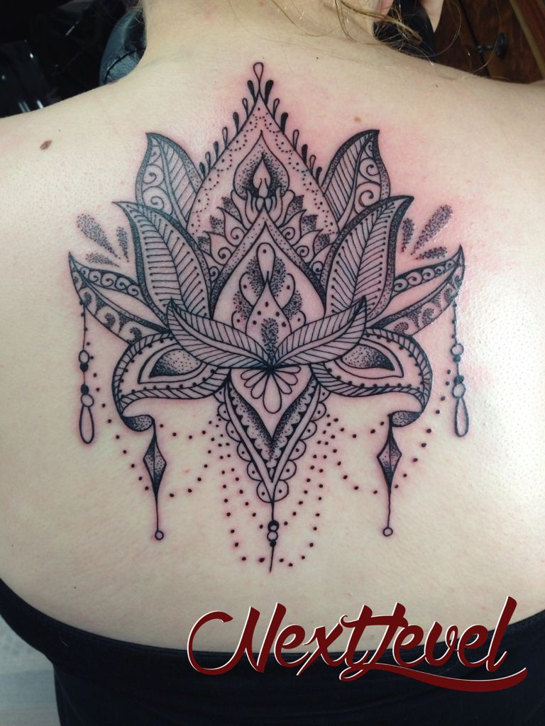 lotus mandala dotwork tattoo made by me d vme pinterest lotus mandala tattoo and lotus tattoo. Black Bedroom Furniture Sets. Home Design Ideas