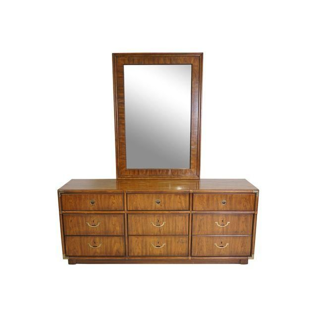 Full Size Drexel Dresser And Mirror Can Be Used As A Credenza Or Console Clic Br Accents Flush Drawer Pulls