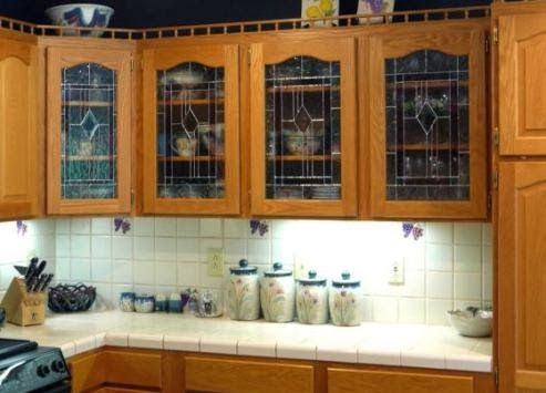 kitchen cabinet inserts | ... glass inserts can improve the look of ...