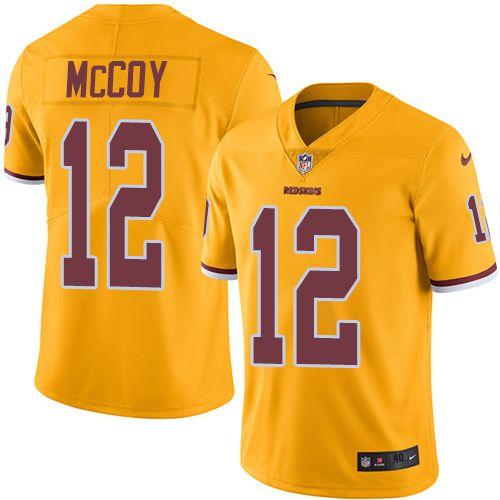Men s Nike Washington Redskins  12 Colt McCoy Elite Gold Rush NFL Jersey  Redskins Jamison Crowder jersey f4fe4b76f