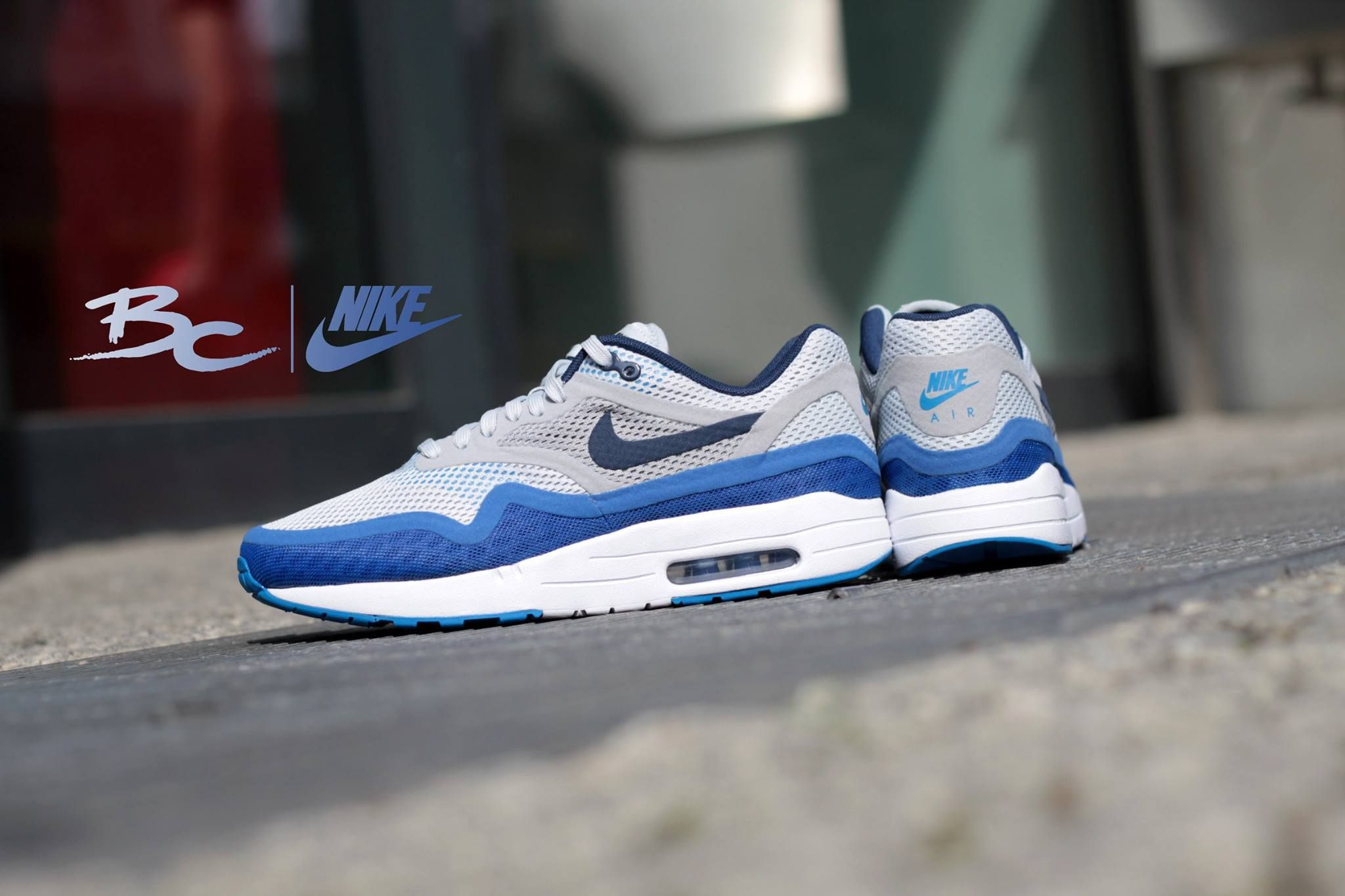 *NEW* Nike Air Max 1 BR White Blue Size: 8(41)