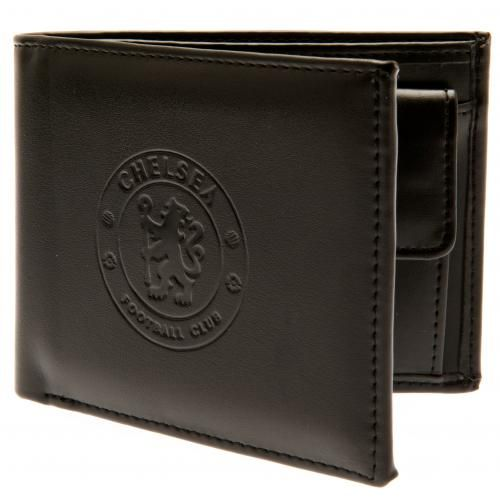 76a10b25b Synthetic leather Chelsea FC wallet with a debossed club crest on the front  with lots of room for your cards and money inside. FREE DELIVERY on all of  our ...