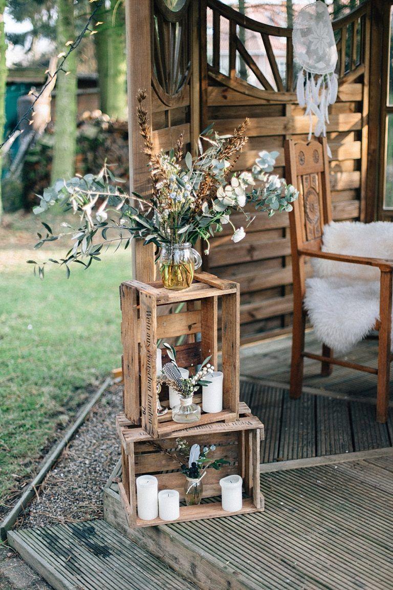 Lässige Boho-Hochzeit mit Lichtern Hochzeitsblog Die kleine Hochzeitsecke