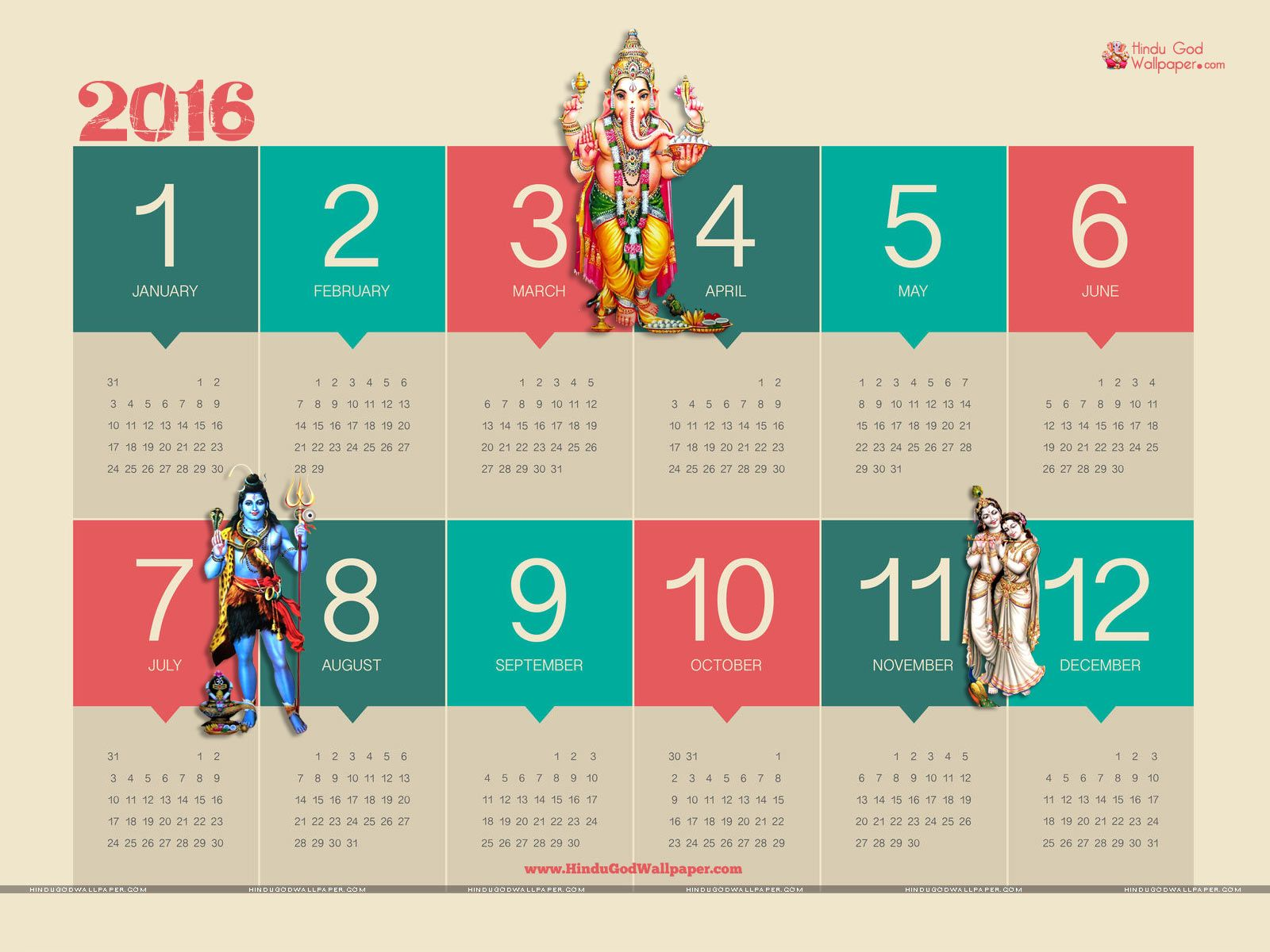 free desktop wallpaper calendar 2016 download