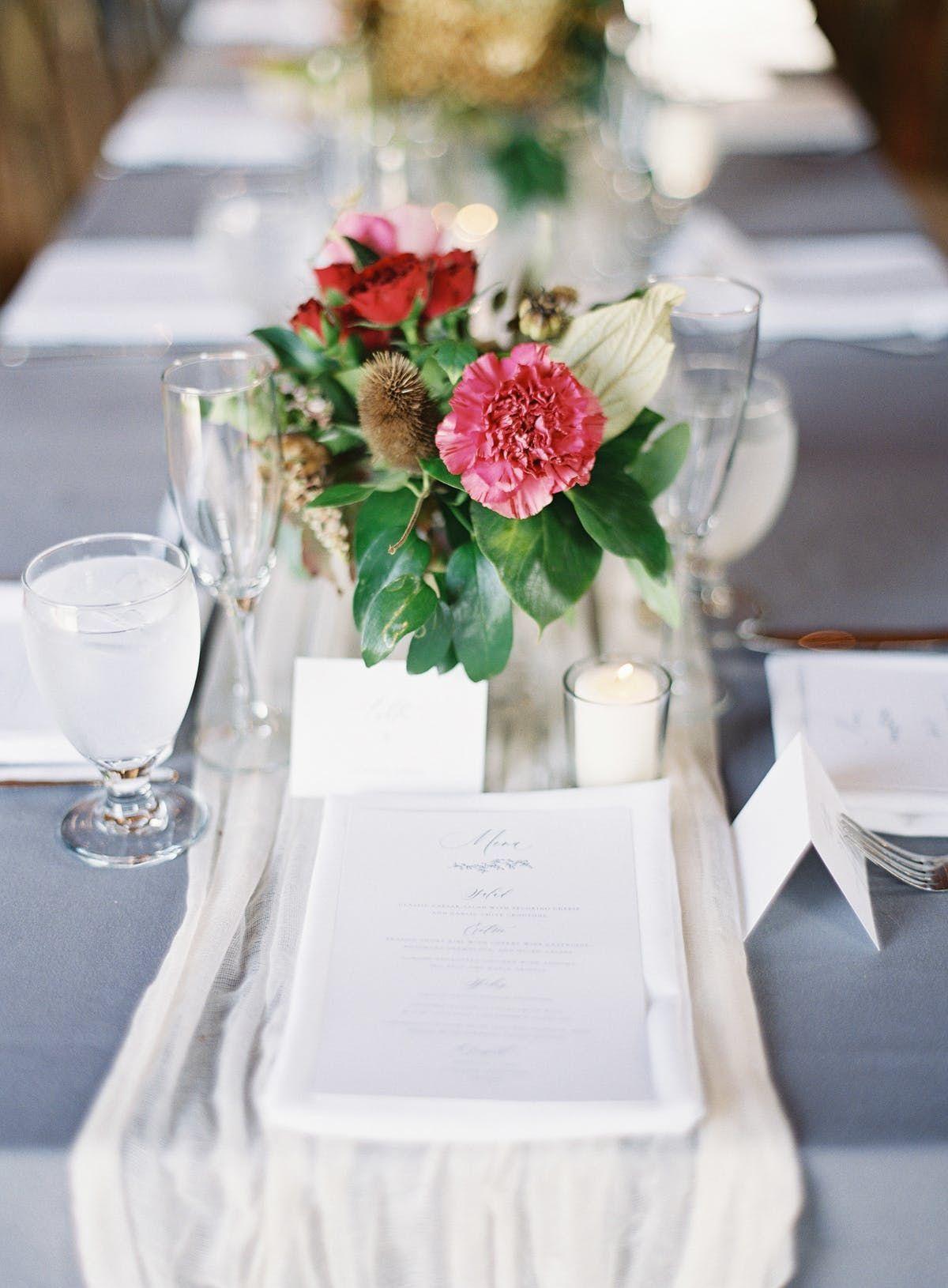 #Weddingtable #Centerpiece #Tablerunner #Rusticelegance Photographer Esther Sun Photography - Event