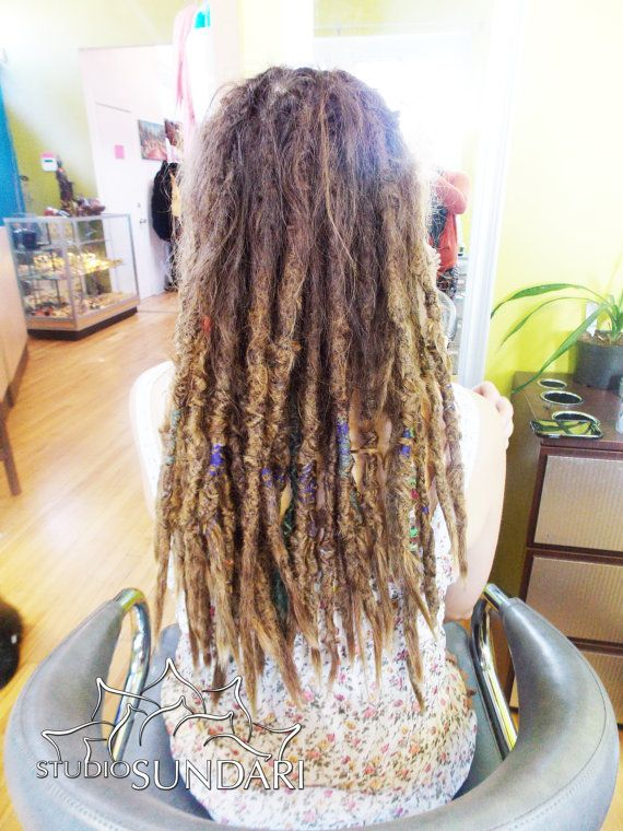 20 Human Hair Permanent Dreadlock Extensions Straight Texture