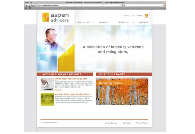 Aspen Advisors | The M Group Creative  Brand Refresh including:  Discovery & Strategic Planning, Brand & Identity, Creative, User Experience Design & Interactive, Online Media, Social Marketing.