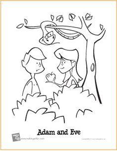 Adam And Eve Garden Of Eden Free Printable Coloring Page Bible Coloring Pages Adam And Eve Sunday School Activities