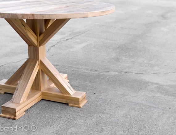 Custom Round Dining Table Reclaimed Wood Rustic
