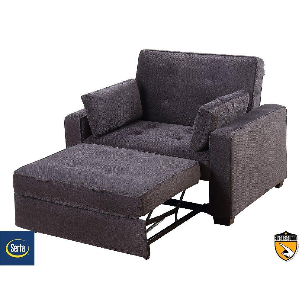 Best Serta Anderson Twin Convertible Chair Futon Chair 640 x 480