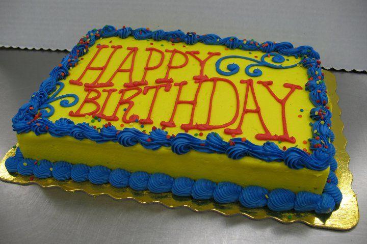 Happy Birthday Sheet Cake, LS1 Hy-Vee | Bakery Department Custom ...