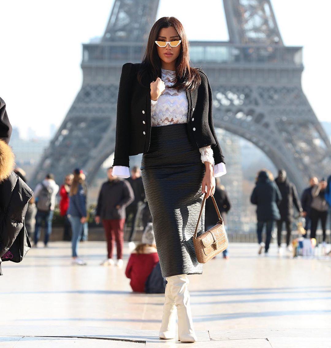 Renee Farah رينه فرح On Instagram Pfw Day 1 Wearing Georgeshobeika How To Wear Farah Renee