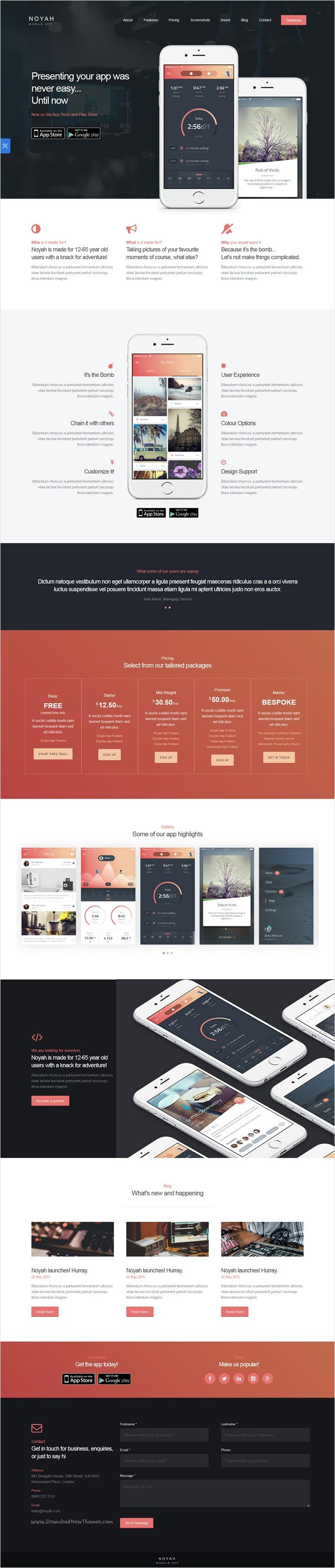 Noyah - App Landing Page