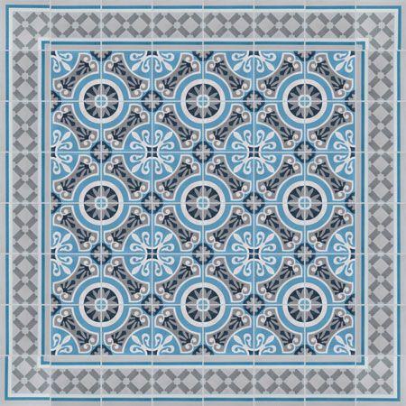 des exemples de tapis de carreaux de ciment, avec couleurs