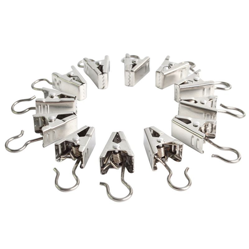 SAE Fortion New 10 Pcs Heavy Duty Curtain Clips W Hook