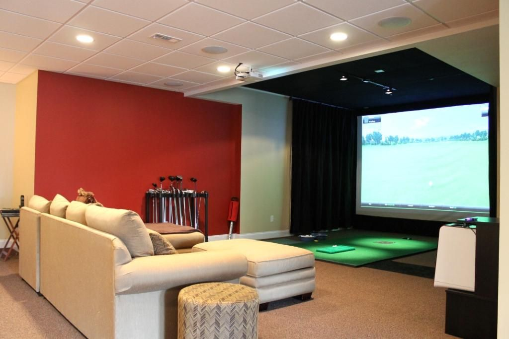 Golf Simulator Interiors Living Room Pinterest