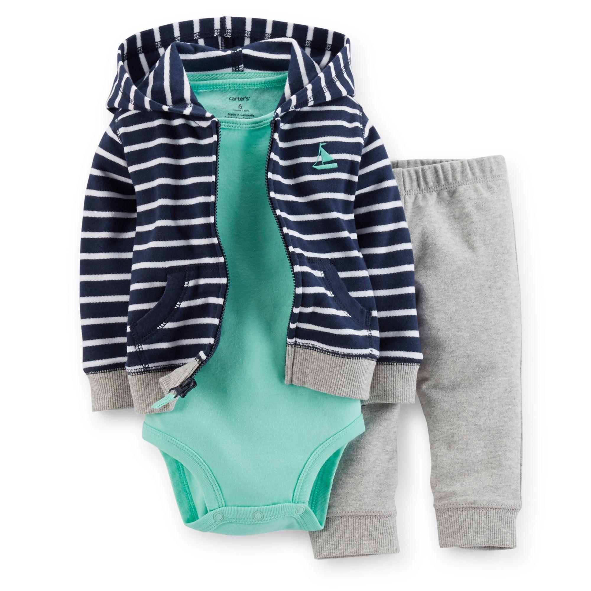 8a6ca95c33a3 3-Piece Hooded Cardigan Set