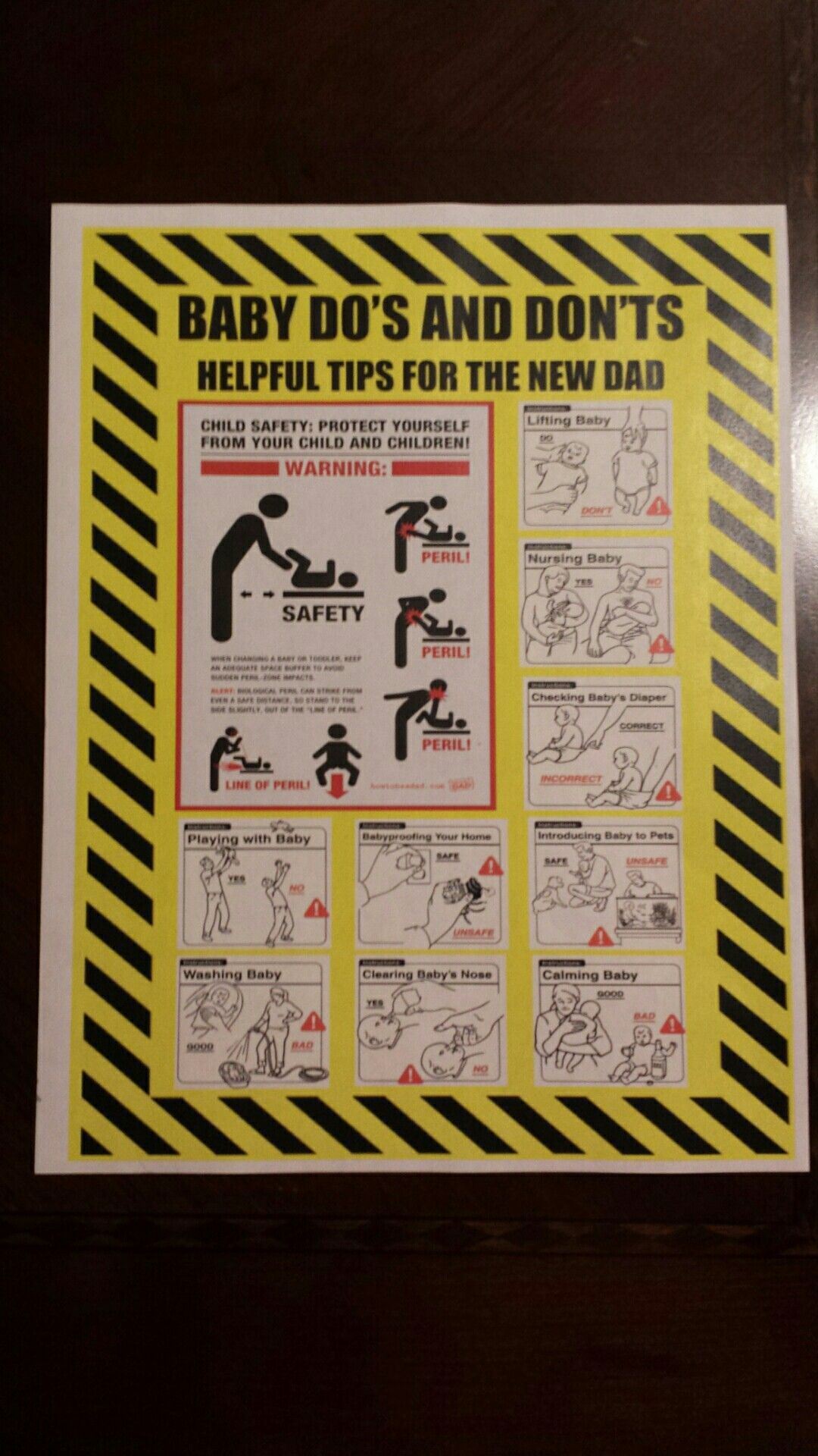 Funny Instructions For The New Dad My Baby Shower Creations