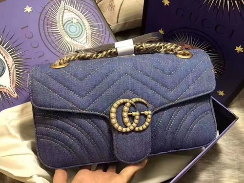 be5609630729 Gucci GG Marmont Matelassé Denim Shoulder bag Japan Limited Edition  GGマーモント〕 日本限定 デニム ミニバッグ