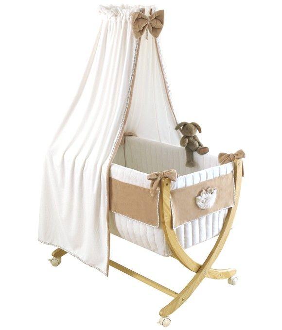 berceau b b en bois beige c me b b todo. Black Bedroom Furniture Sets. Home Design Ideas