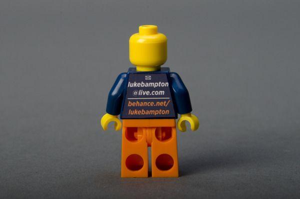 Tarjetas De Visita Lego Business Cards By Luke Bampton Via Behance Business Cards Legos Cards