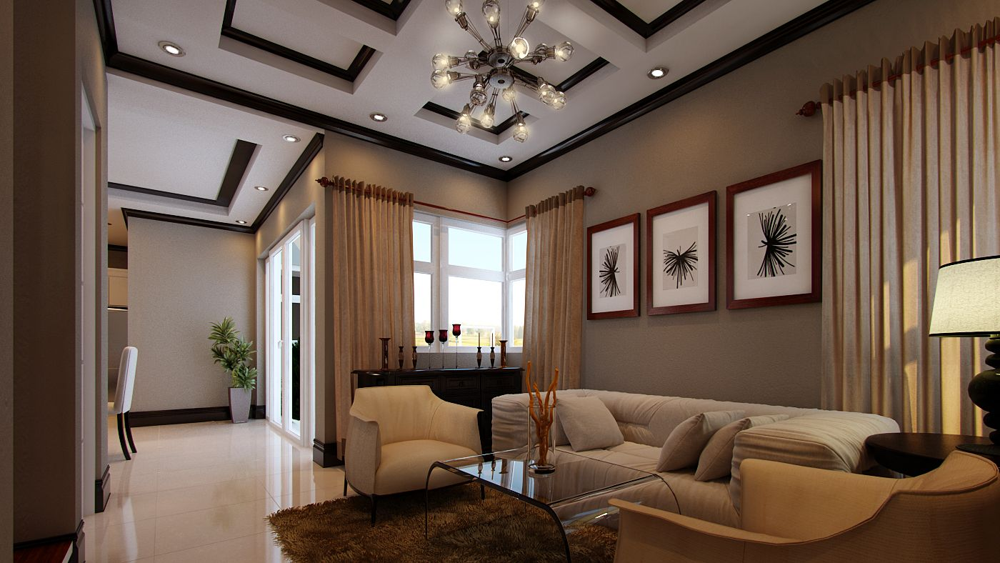 Philippines single story house design with interior details myhomemyzone also rh in pinterest