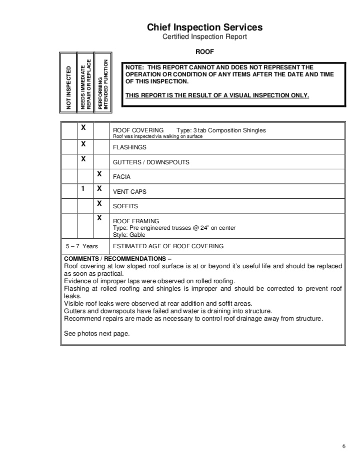 Roof Inspection Report Template 6 Templates Example Templates Example In 2020 Roof Inspection Report Template Roof